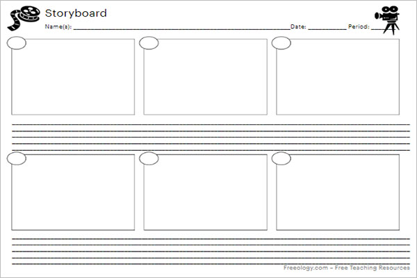 Simple Storyboard Template Word
