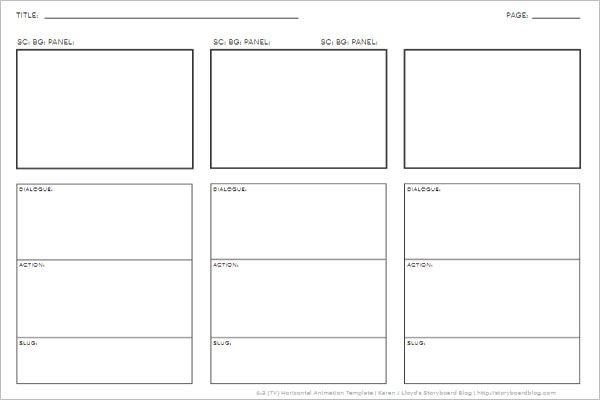 12 Simple Storyboard Templates Free Word Doc Formats
