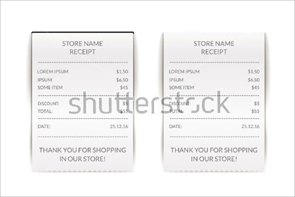 Simple Tax Receipt Template
