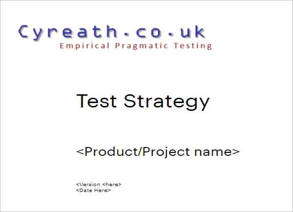 Simple Test Strategy Template