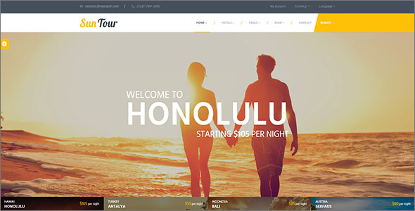 Simple Travel HTML Template