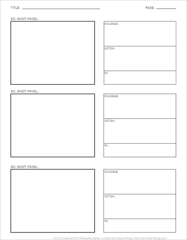 12+ Simple Storyboard Templates Free Word, DOC Formats