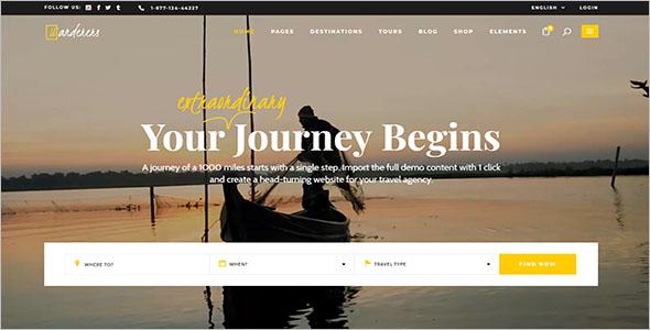 Simple WordPress Travel Theme