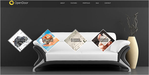 Single Page Furniture Bootstrap Template