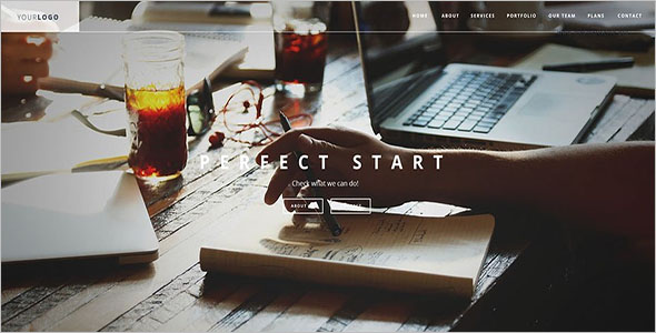 Single Page Static HTML Template