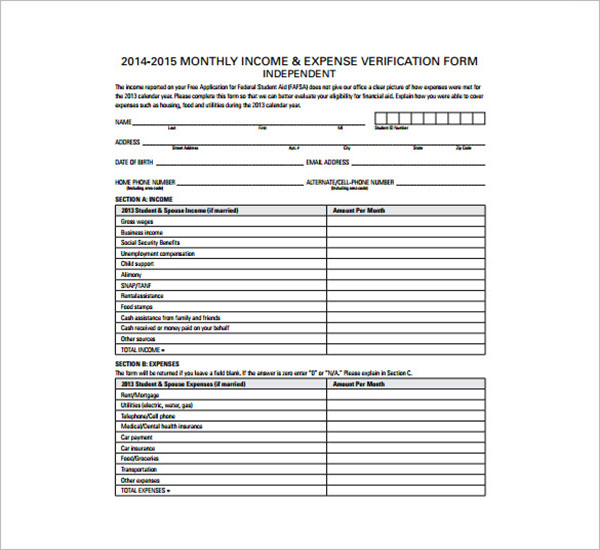 Small Business Expense Sheet Template