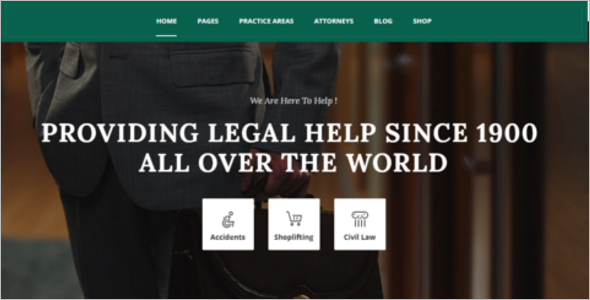Small Law Firm Website Template