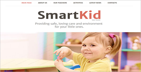 Smart Kid Website Template
