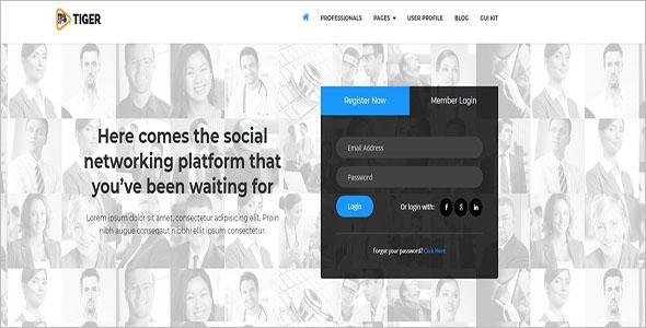 Social Media Bootstrap Theme