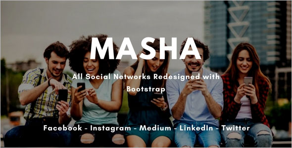 Social Network Bootstrap Theme