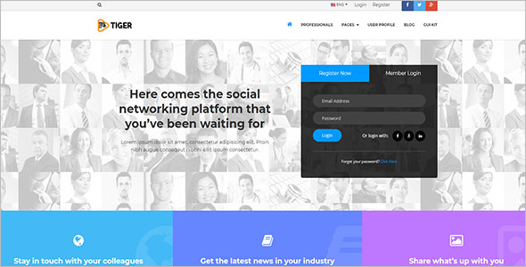 Social Network HTML Template