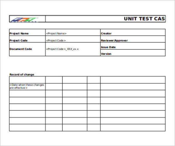 Software Test Case Template