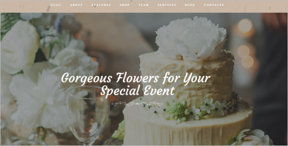 Special Event Management Website Theme