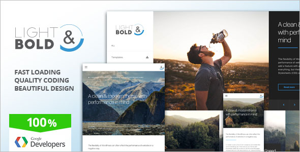 Speed Focused WordPress Theme