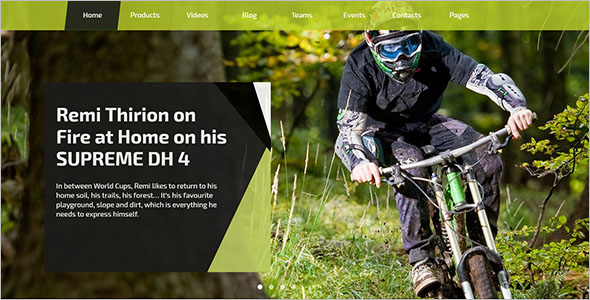 Sport Multipage HTML5 Website Template