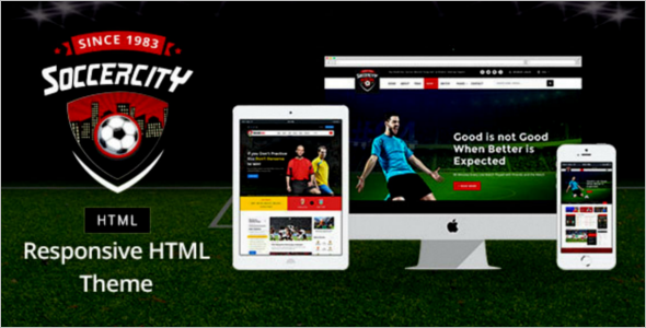 Sports Event Management Website Theme