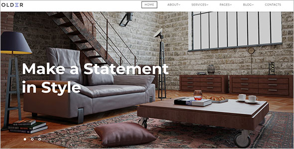 Stylish Furniture Bootstrap Template