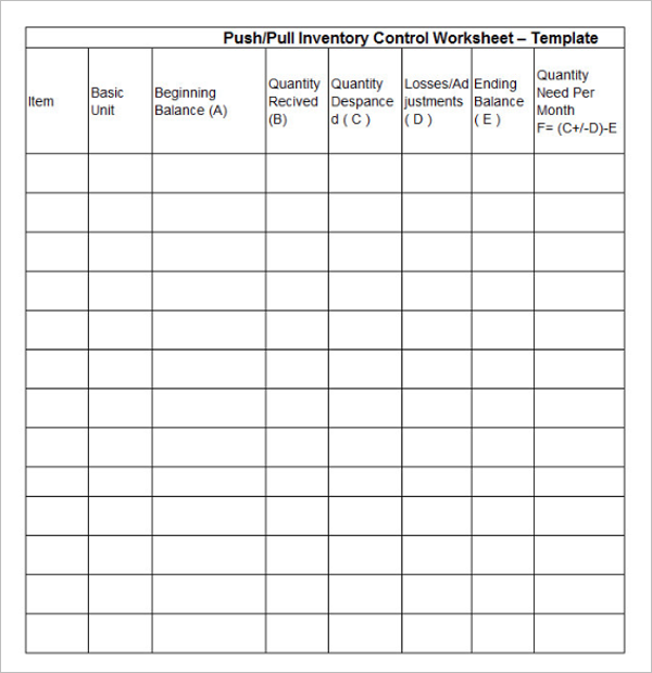 Stock Inventory Template PSD