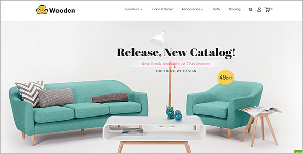 Stunning Furniture Bootstrap Template