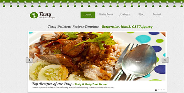 Tasty Delicious Recipes Website Template