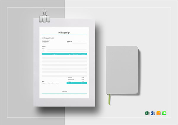 Tax Invoice Receipt Template