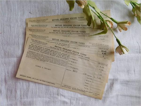 Tax Receipt PDF Format