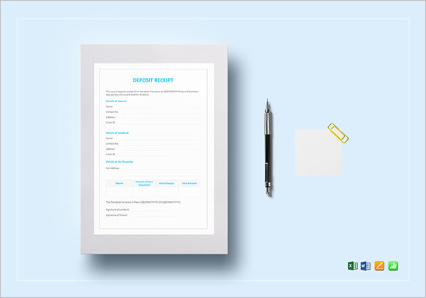 Tax Rent Receipt Template