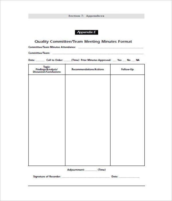 Team Meeting Minutes Free Download