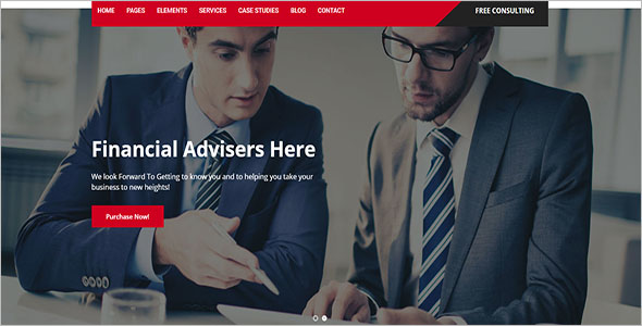 Top Finance Company WordPress Theme