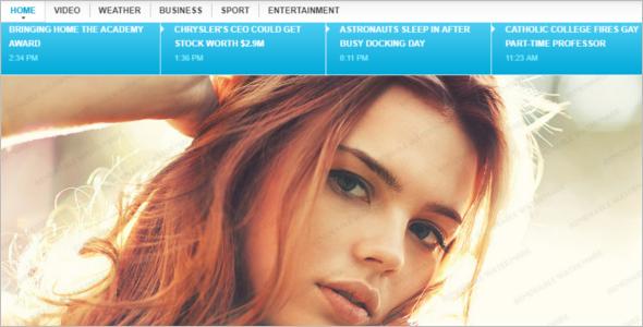 Top News Website Template