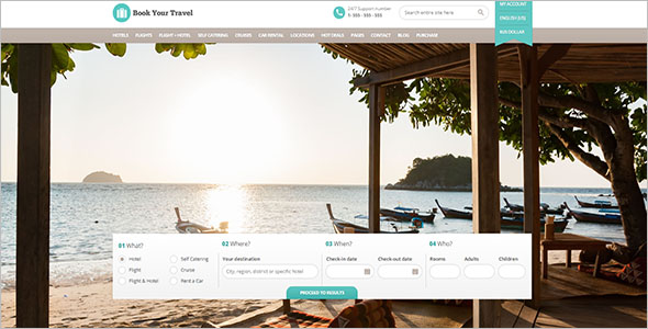 Top Selling Travel HTML Template