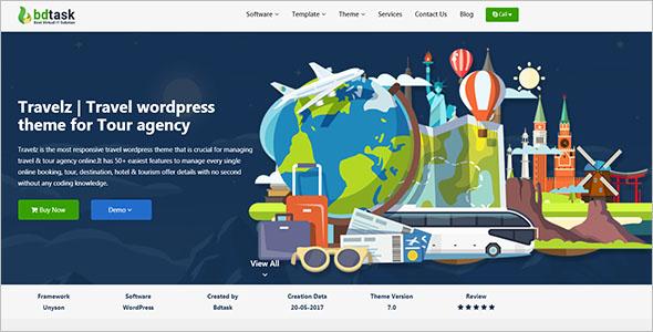 Tour Agency WordPress Theme