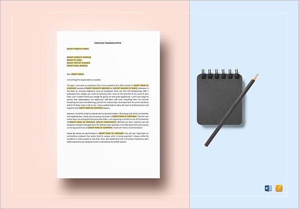 Transfer Letter To HR