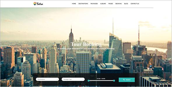 Travel Agency WordPress Theme Free Download