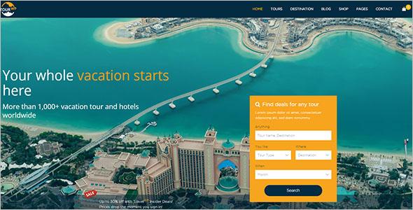 Travel Booking Website WordPress Theme