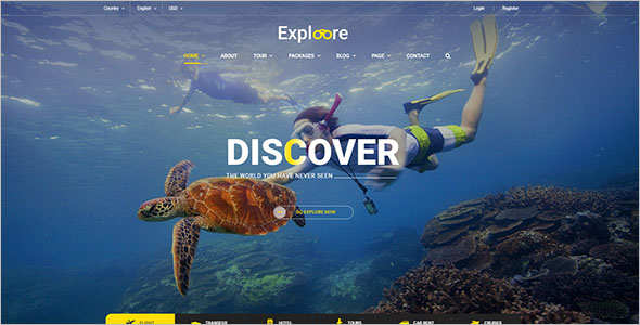 Travel HTML Website Template`
