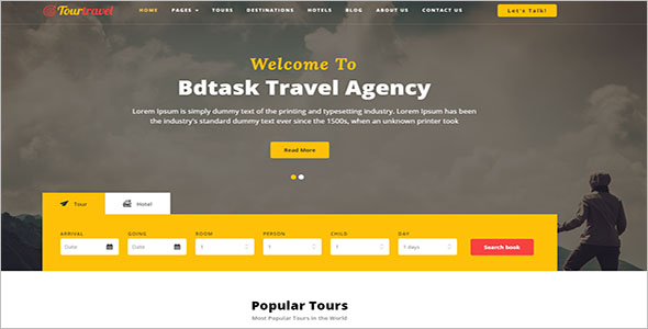 Travel Hotel Booking HTML Template
