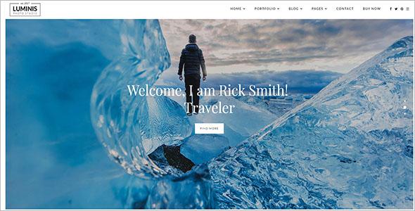 Travel Photography WordPress Theme