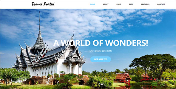 Travel Portal HTML Template