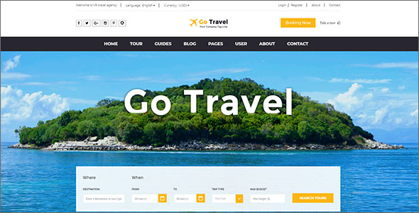 Travel Website HTML Template