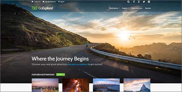 Trendy Travel HTML Template