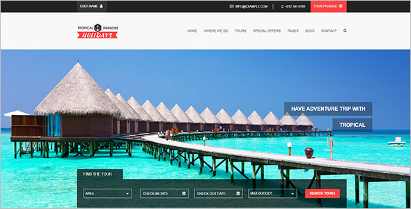 Tropical Travel HTML Template