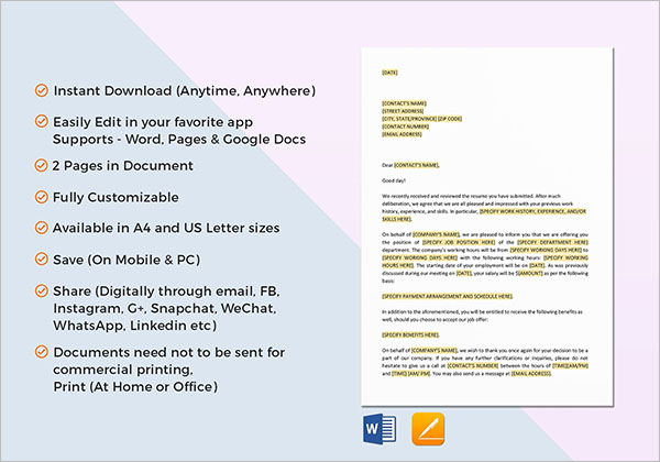 Useful Human Resource Letter Sample