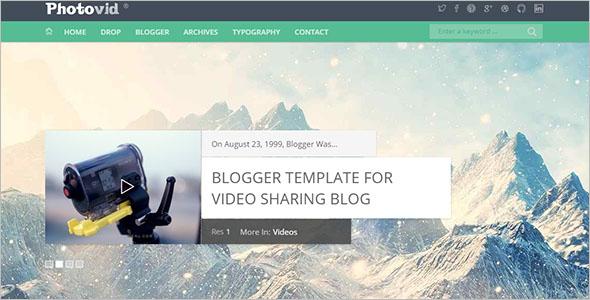 Video Blogger Template