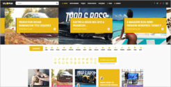 Video Grid Blog Template