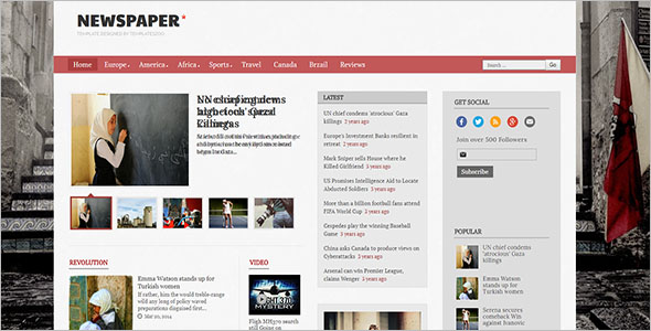 Video Support Blogger Template