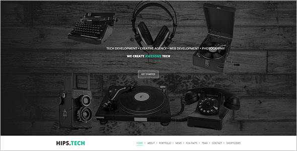 Vintage Business WordPress Theme