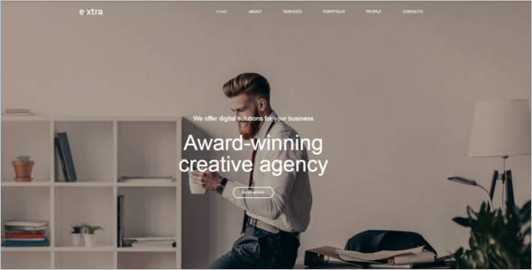 Web Designing Company Website Theme