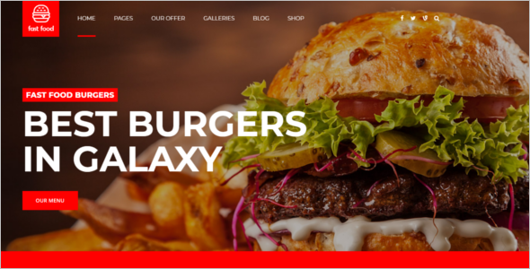 Website Template For Fast Food