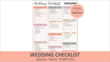 Wedding Checklist Excel Template
